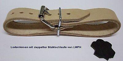 2 starke Leder-Riemen weiss Rollschnalle 2,0 x 45,0 cm  Kinderwagen Top v LWPH