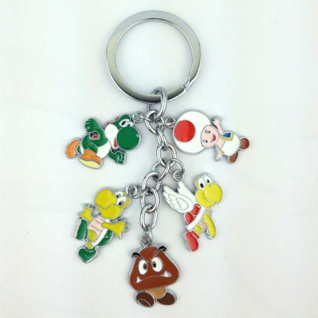 Super Mario Bros Metal Keychain Goomba Koopa Troopa Paratroopa