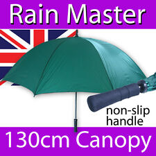 LARGE CANOPY GREEN GOLFING UMBRELLA NON SLIP GRIP RAIN MASTER