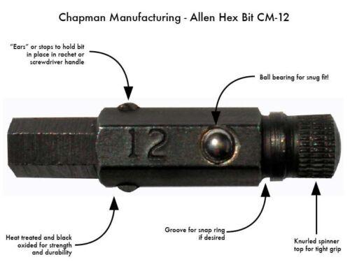chapman bit # 33 phillips drive woodworker screwdriver 1//4 hex drive ball lock