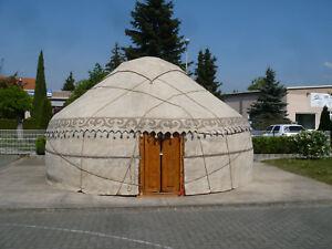 Original-kirgisische-6m-Jurte-mit-Regenschutz-Yurt-Kirgisien-Ger-Zelt-Tipi
