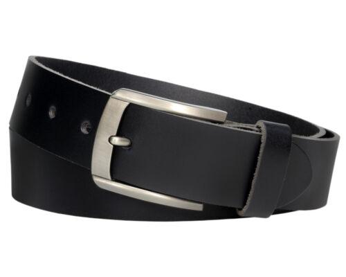 Ledergürtel 4cm schwarz Herren Damen echt Leder Jeans Gürtel Vascavi #4-0008-11