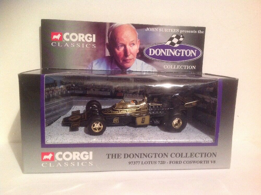 CORGI 97377 The Donnington Collection Lotus 72D- Ford Cosworth V8