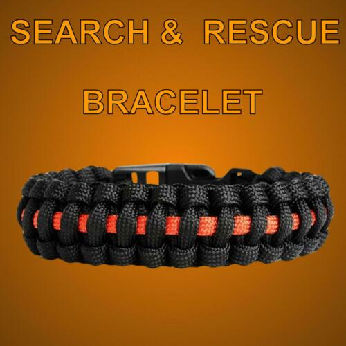 Search And Rescue Patch Bracelet Thin Orange Line SAR UK