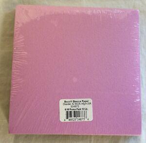 """NEW Bazzill Basics Paper 6''X 6"""" Promo Pack 1/2 lb ..."""