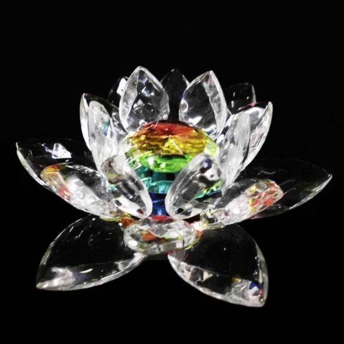 3D Seerose Lotusblume Feng Shui Kristall Glas Deko lotus blume bunt weiß-klar
