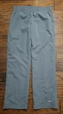 "Inseam 31.5"" Faithful Women's Nike Gray Mesh-lined Athletic Pants Size M inventoryw8"