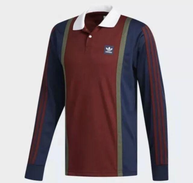 Egipto privado Cubo  Mens L adidas Originals Skateboarding Rugby Jersey/shirt DH6643 for sale  online | eBay