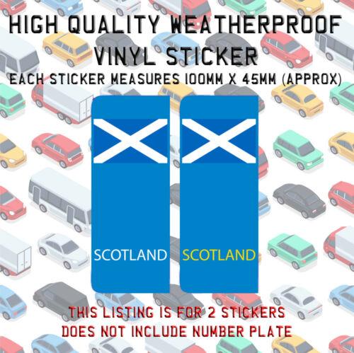 2 SCOTLAND St Andrews Flag SCO Number Plate Vinyl Sticker UK Stick On N009