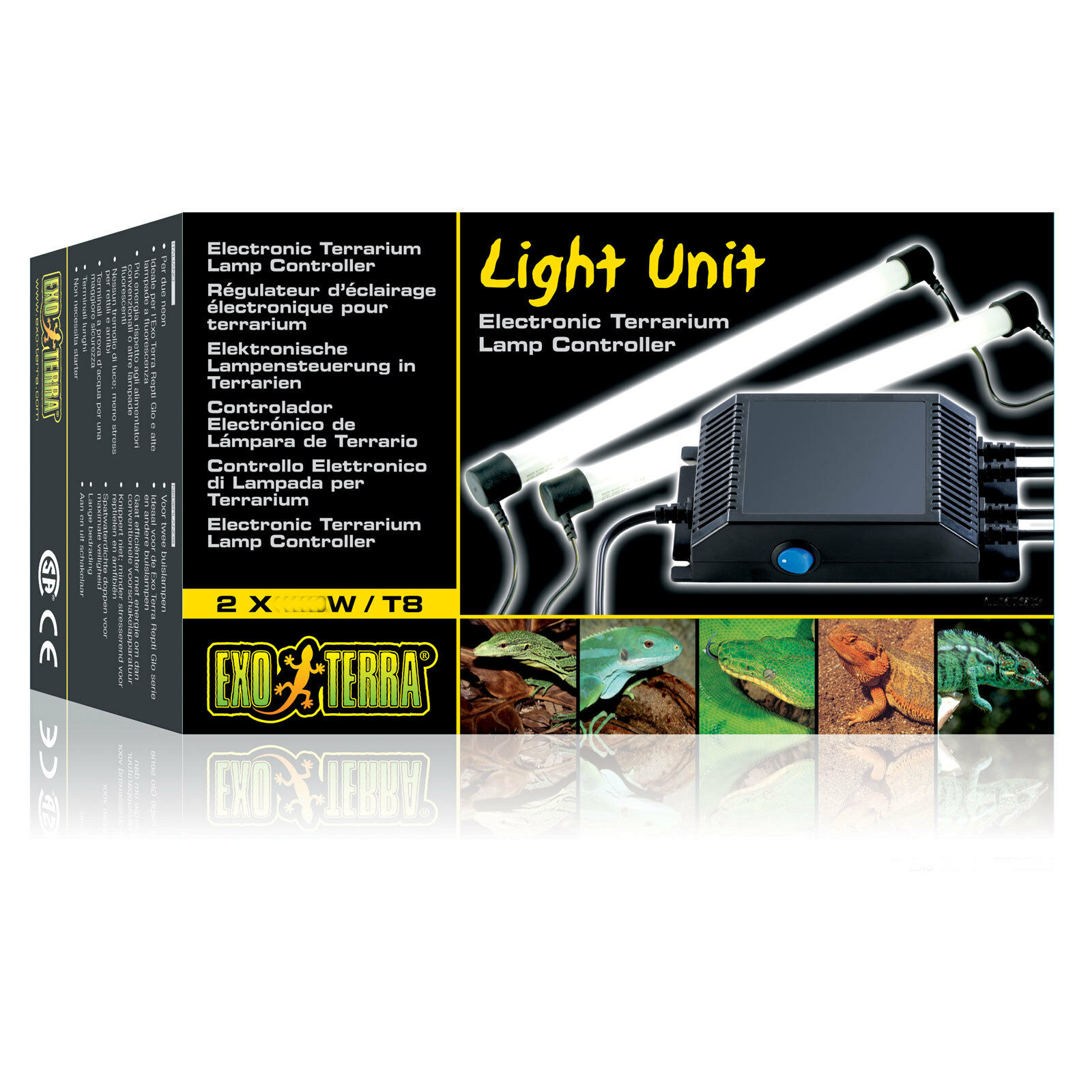 Exo Terra Light Unit T8 T10 20W with Optional Bulbs