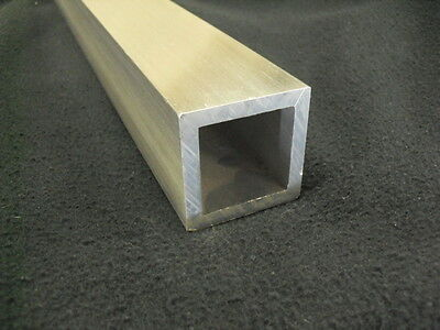"2/""x2/"" Aluminum Square Tube tubing 0.15/"" wall x 12/"" long 6061//50x50x300MM"