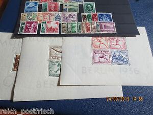 Deutsches-Reich-1936-Einzelmarken-und-Satze-o-Frei-wahlbar