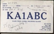 Amateur Radio Station Portland OR W7FQE 1946 to Philippine Islands KA1ABC - P901