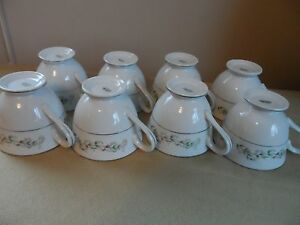 Brentwood-Fine-China-Cups-Mugs-034-Cottonwood-034-8-Cups