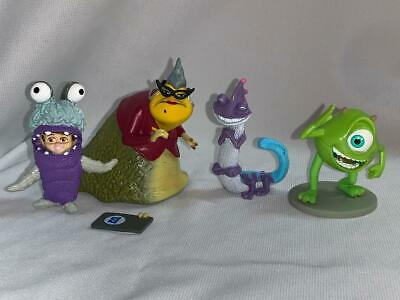 Monsters Inc Figure Cake Topper Lot Roz Boo In Costume Mike Randall Disney Ebay
