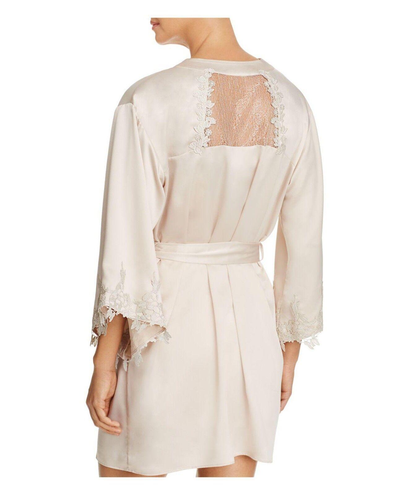 FLORA NIKROOZ Women's Alessia Kimono Robe In Champagne Size M