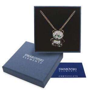 Collana-donna-oro-Swarovski-Element-originale-G4L-cristalli-strass-panda-regalo