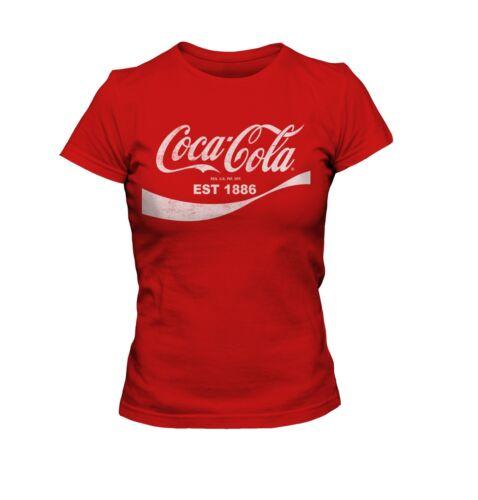 Classic Coca Cola Logo Est 1886  Woman T-shirt