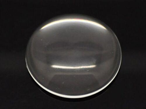 10 Transparente Redondo FLATBACK cristal de cabujón de cúpula de 35 mm Sin Agujero
