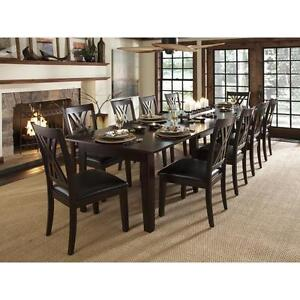 13 Piece Dining Set Solid Wood Long 132