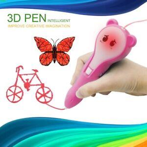 3D Pen- PCL matériel- enfants cadeau 3D Printing Pen- Stereoscopic Drawing Pen Set-afficher le titre d`origine
