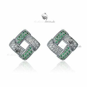 18k-white-gold-gf-made-with-SWAROVSKI-crystal-stud-earrings-elegant-green