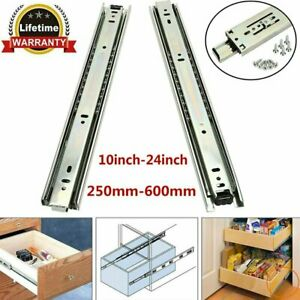 "20/"" Zinc 100lb Heavy Duty Full Extension Ball Bearing Drawer Slides One Pair"