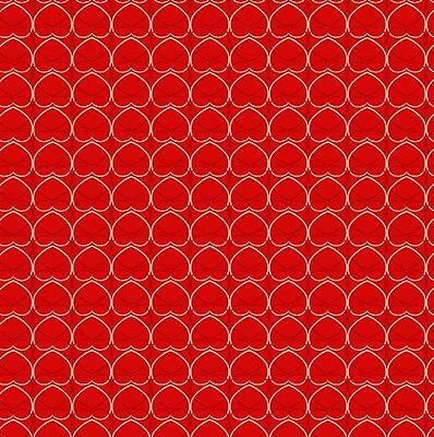 HALF METRE FABRIC FREEDOM ARTS & CRAFTS RED HEARTS FX10-1 COTTON FABRIC 3020