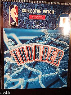 "Official Nba Oklahoma City Thunder Wordmark ""thunder"" Logo Iron Or Sew On Patch Basketball"