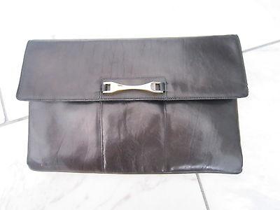 Alte Handtasche Leder Unterarmtasche,tasche,schultertasche,clatch Vintage,moss