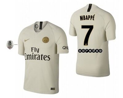 128-xxl Maillot NIKE PARIS Saint-Germain 2018-2019 Away l1-Mbappe 7 PSG