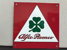 Alfa romeo Racing clover garage sign RARE baked