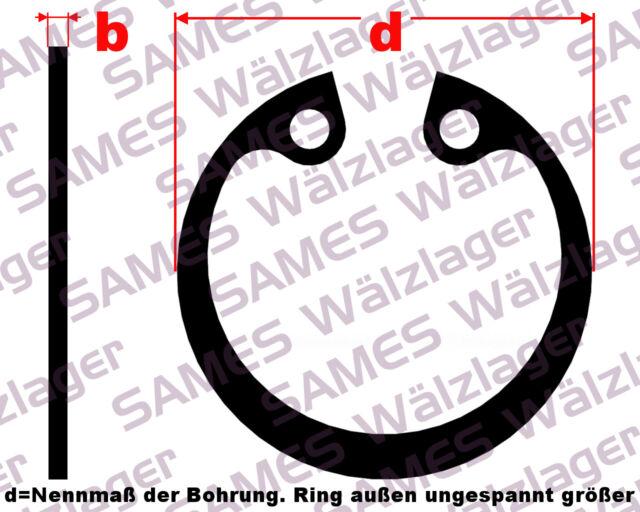 2 Stück Sicherungsringe Bohrung I 68x2,5 mm DIN 472 Federstahl (Seegerringe)