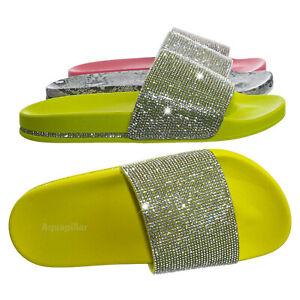 Marty-Rhinestone-Crystal-Footbed-Slipper-Women-Molded-Comfort-Flat-Sandal