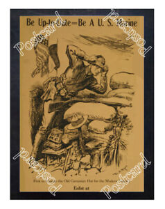Historic-WWI-Recrutiment-Poster-be-a-U-S-Marine-Postcard