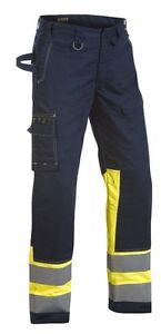 Blaklaeder-1478-Multinorm-Bundhose-gelb-marineblau-Restposten-Groesse-50