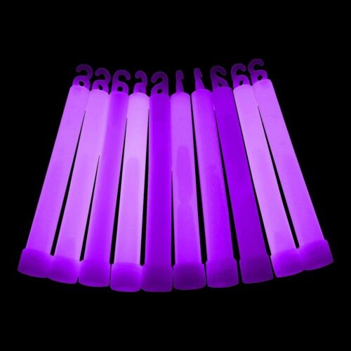 """Individually Wrapped 25x 6/"""" Inch Glow Sticks Glowtopia for All Occasions"""