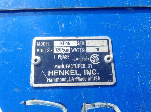 Henkel Kt-15 Welding Rod Oven 120//240v 70w 1 Phase for sale online