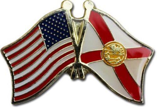 Pack of 3 USA American Alaska State Friendship Flag Bike Hat Cap lapel Pin