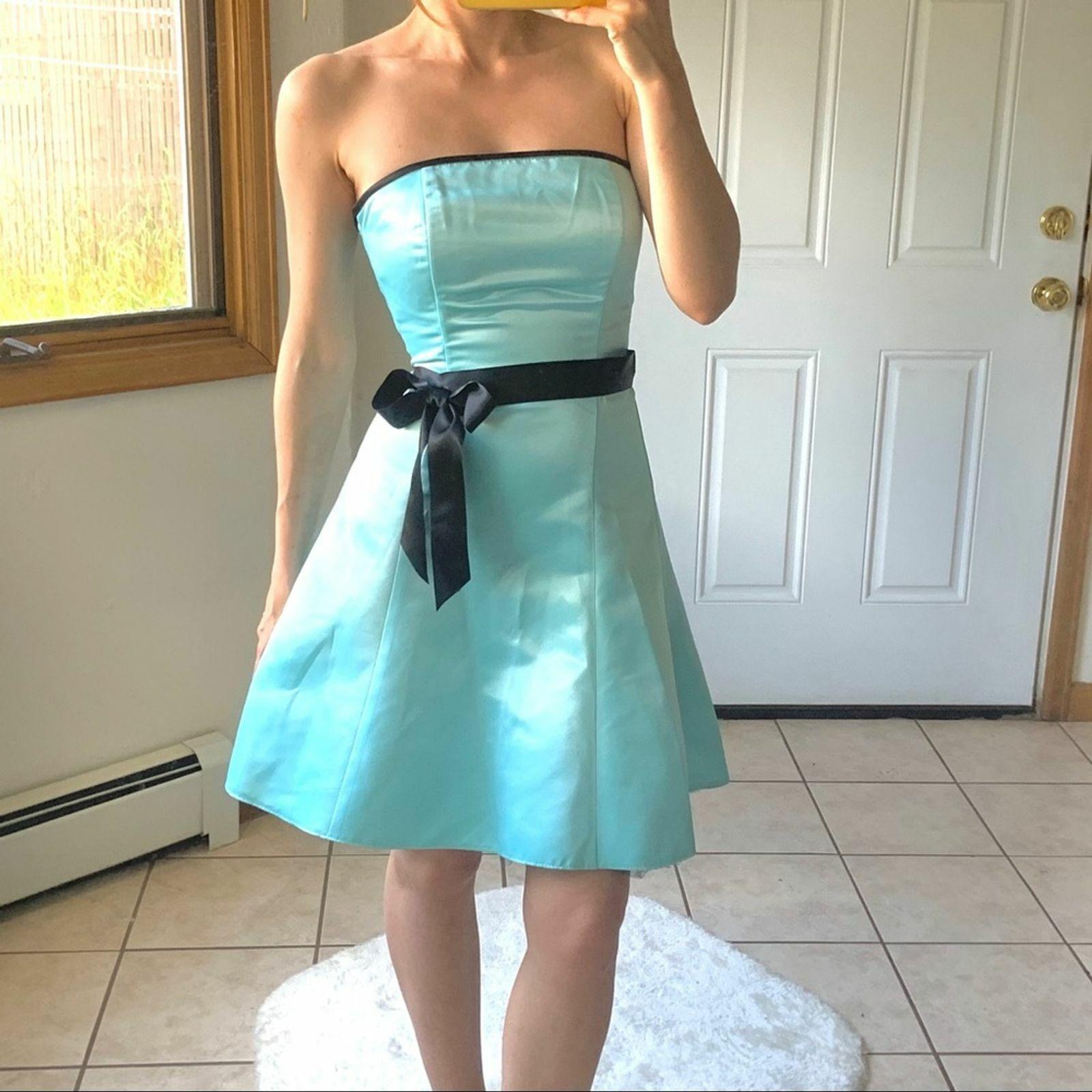 Vtg Jessica McClintock Gunne Sax Blue Formal Dres… - image 2