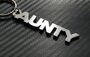 LADY Personalised Nick Name Keyring Keychain Key Bespoke Stainless Steel Gift