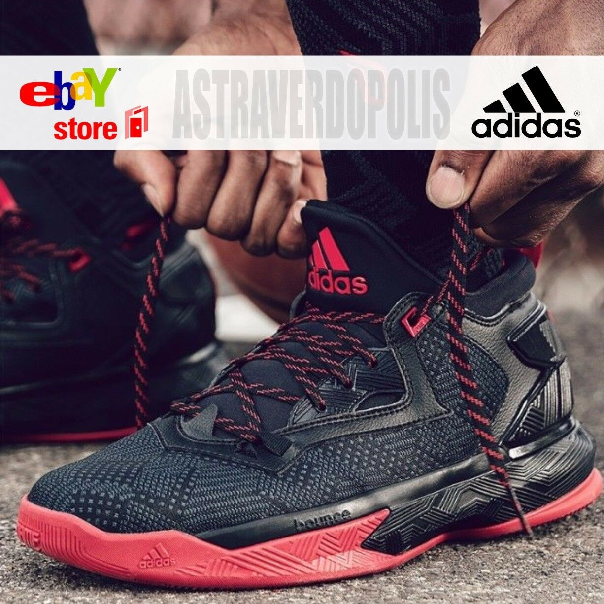 Adidas d lillard 2.0 pazzi per il basket noi Uomo scarpe nere kobe rimbalzare noi basket 10,5 11 68b131