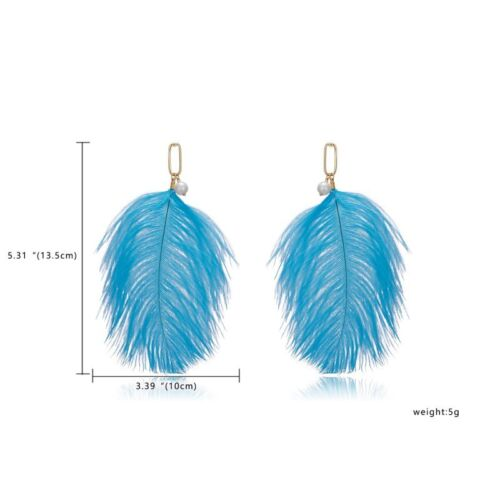 Fashion Boho Long Tassel Feather Hook Drop Dangle Boucles D/'oreille Femmes Bijoux