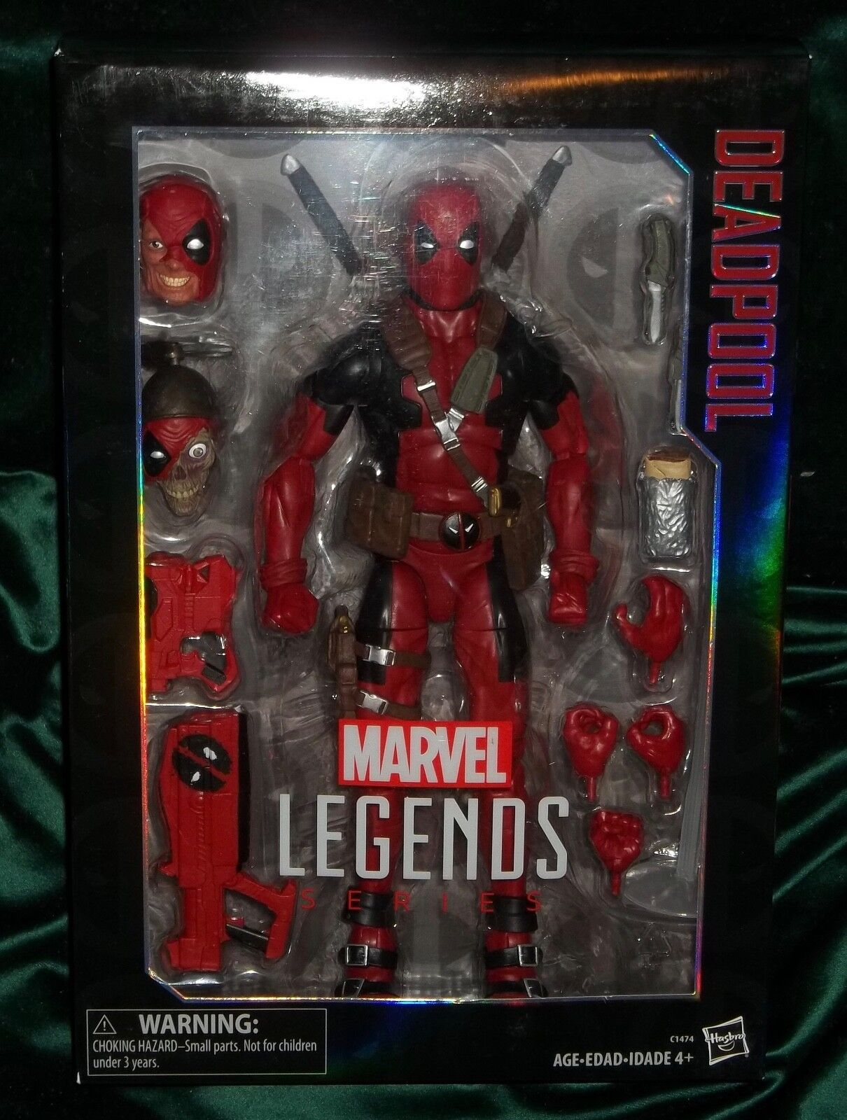 MARVEL LEGENDS X-FORCE SERIES 12 INCH CLASSIC rosso SUIT DEADPOOL FIGURE HASBRO
