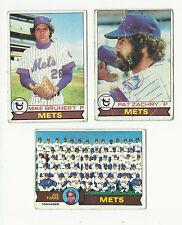 VINTAGE 1979 TOPPS BASEBALL CARDS – NEW YORK METS - MLB