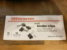 Office Depot Small Binder Clips 12 Boxes 144ct