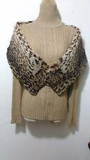 NUOVO design 100% vero visone con avvistato lynx Fur Cape stola