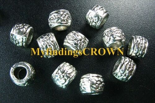 100 Pcs Tibetan Silver 4mm hole ornate spacers FC1018