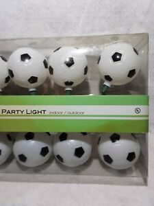 Soccer-String-Party-Lights-10-bulbs-12-Feet-Long-by-Kurt-Adler-NIB