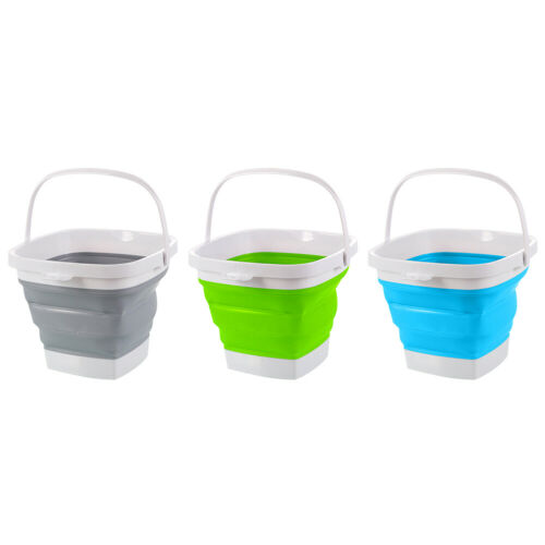 3L Silicone Collapsible Bucket Portable Travel Outdoor Camping Hiking Wash Basin